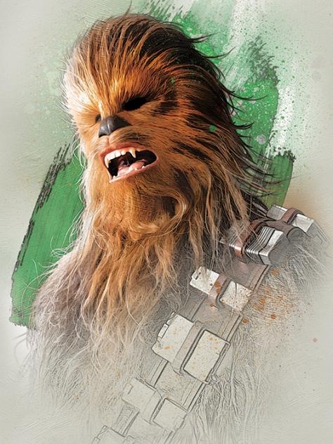 Star Wars The Last Jedi New Promo Character Art -Chewbacca