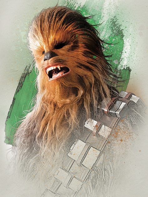 Star Wars The Last Jedi New Promo Character Art -Chewbacca