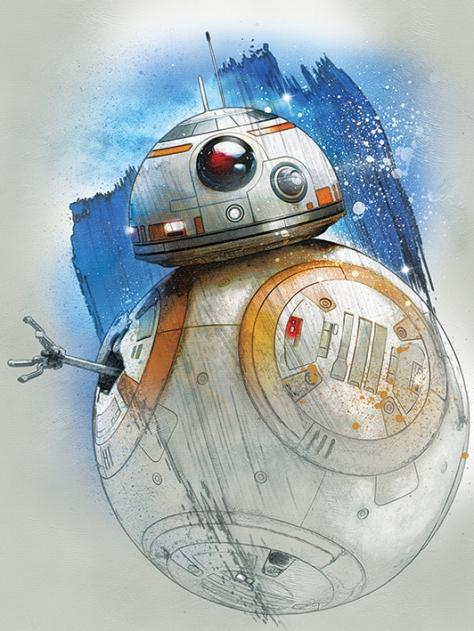 Star Wars The Last Jedi New Promo Character Art - BB-8