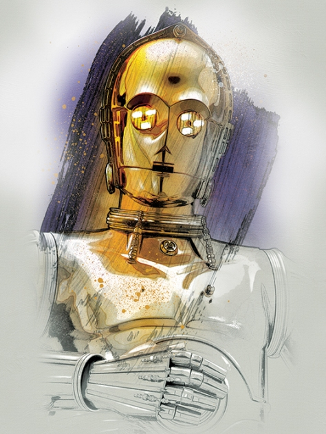 Star Wars The Last Jedi New Promo Character Art -C-3PO
