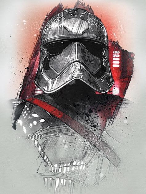 Star Wars The Last Jedi New Promo Character Art - Captain Phasma