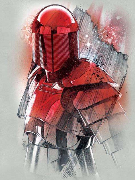 Star Wars The Last Jedi New Promo Character Art - Elite Praetorian Guard