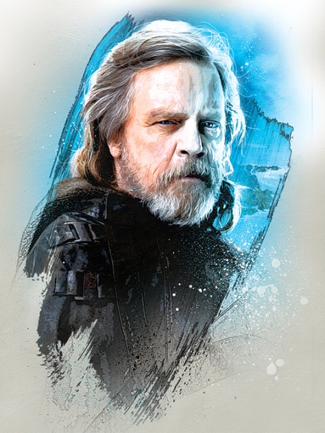 Star Wars The Last Jedi New Promo Character Art -Luke