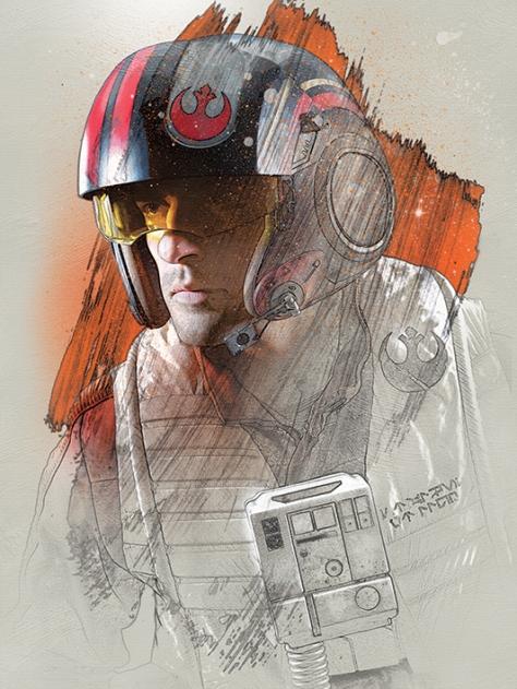 Star Wars The Last Jedi New Promo Character Art -Poe Dameron