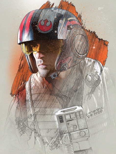 Star Wars The Last Jedi New Promo Character Art -Poe Dameron