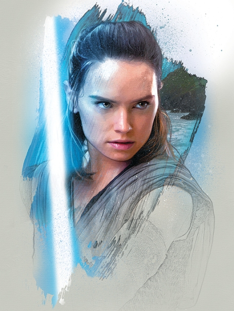 Star Wars The Last Jedi New Promo Character Art -Rey