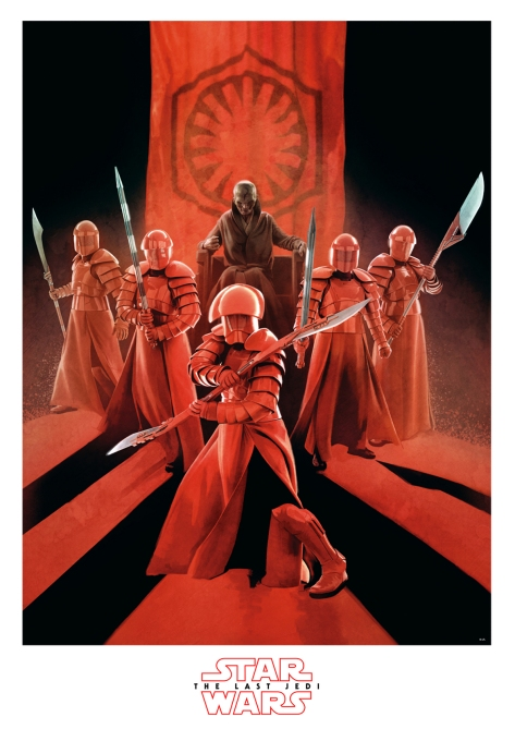 Star Wars The Last Jedi New Promo Posters Ultra Hi Resolution Snoke and the Elite Praetorian Guard