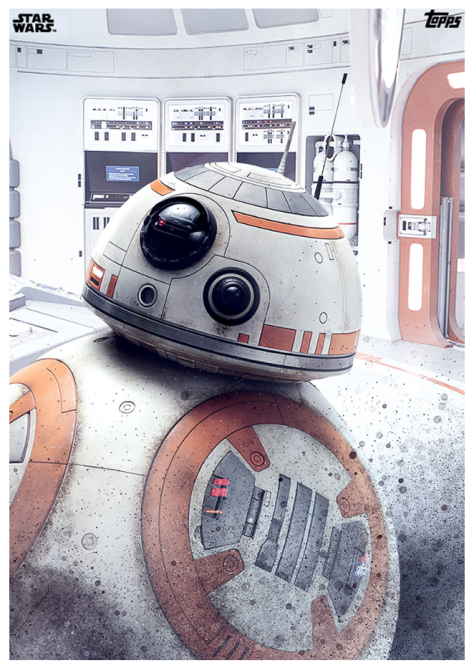 Star Wars The Last Jedi Topps Cards BB-8