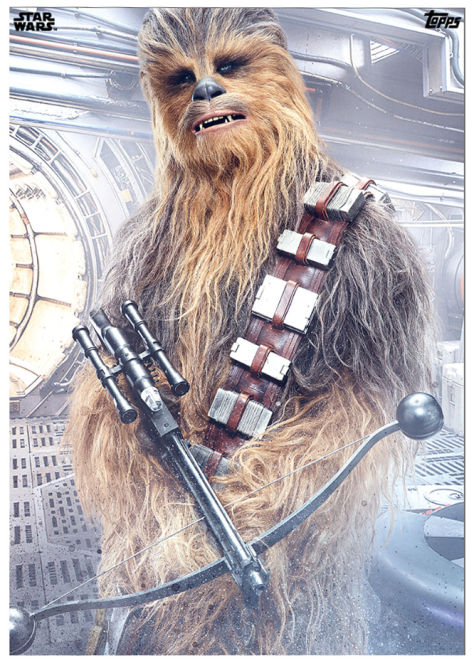 Star Wars The Last Jedi Topps Cards Chewbacca