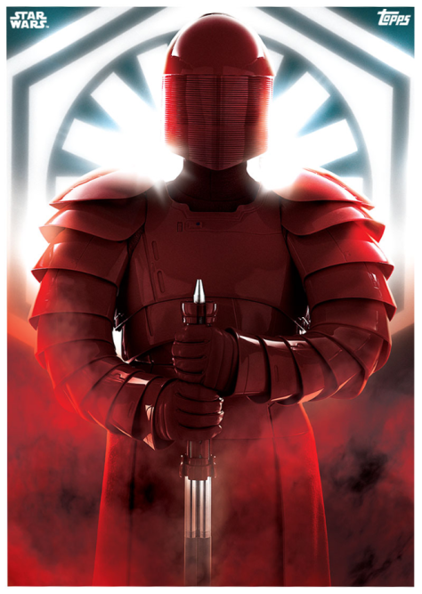 Star Wars The Last Jedi Topps Cards Elite Praetorian Guard Poster