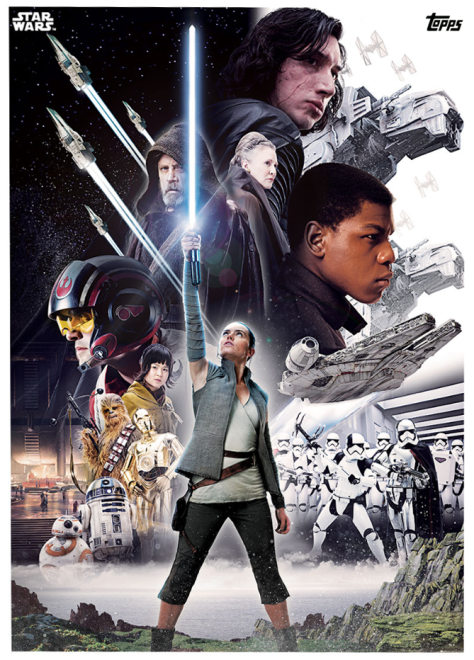 Star Wars The Last Jedi Topps Cards Film Poster