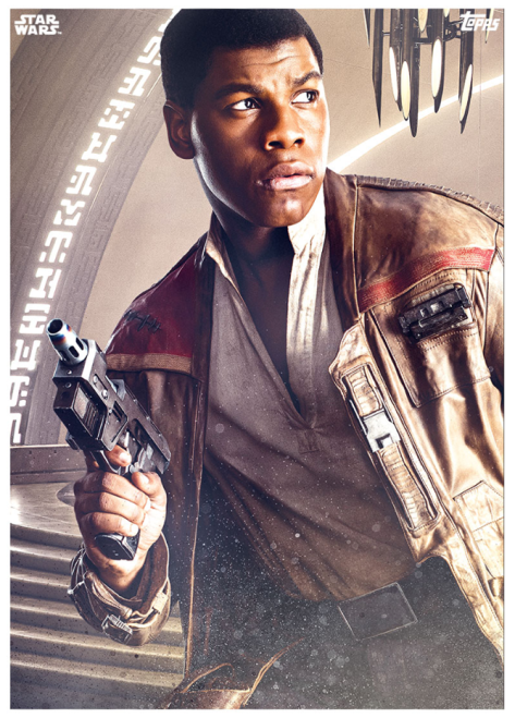 Star Wars The Last Jedi Topps Cards Finn on Crait