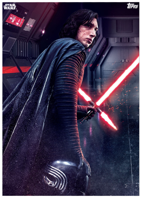Star Wars The Last Jedi Topps Cards Kylo Ren the Sith