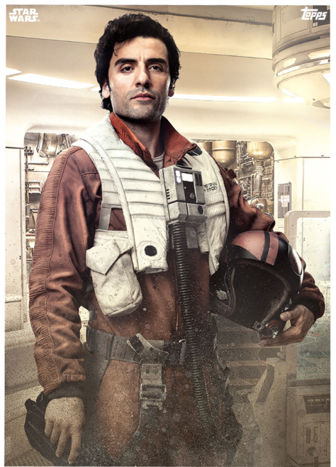 Star Wars The Last Jedi Topps Cards Poe Dameron