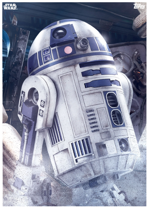 Star Wars The Last Jedi Topps Cards R2-D2