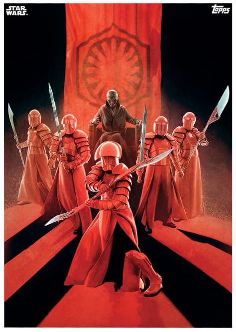 Star Wars The Last Jedi Topps Cards Snoke and the Elite Praetorian Guard