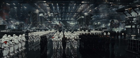 Star Wars: The Last Jedi..First Order hangar..Photo: Lucasfilm Ltd. ..© 2017 Lucasfilm Ltd. All Rights Reserved.