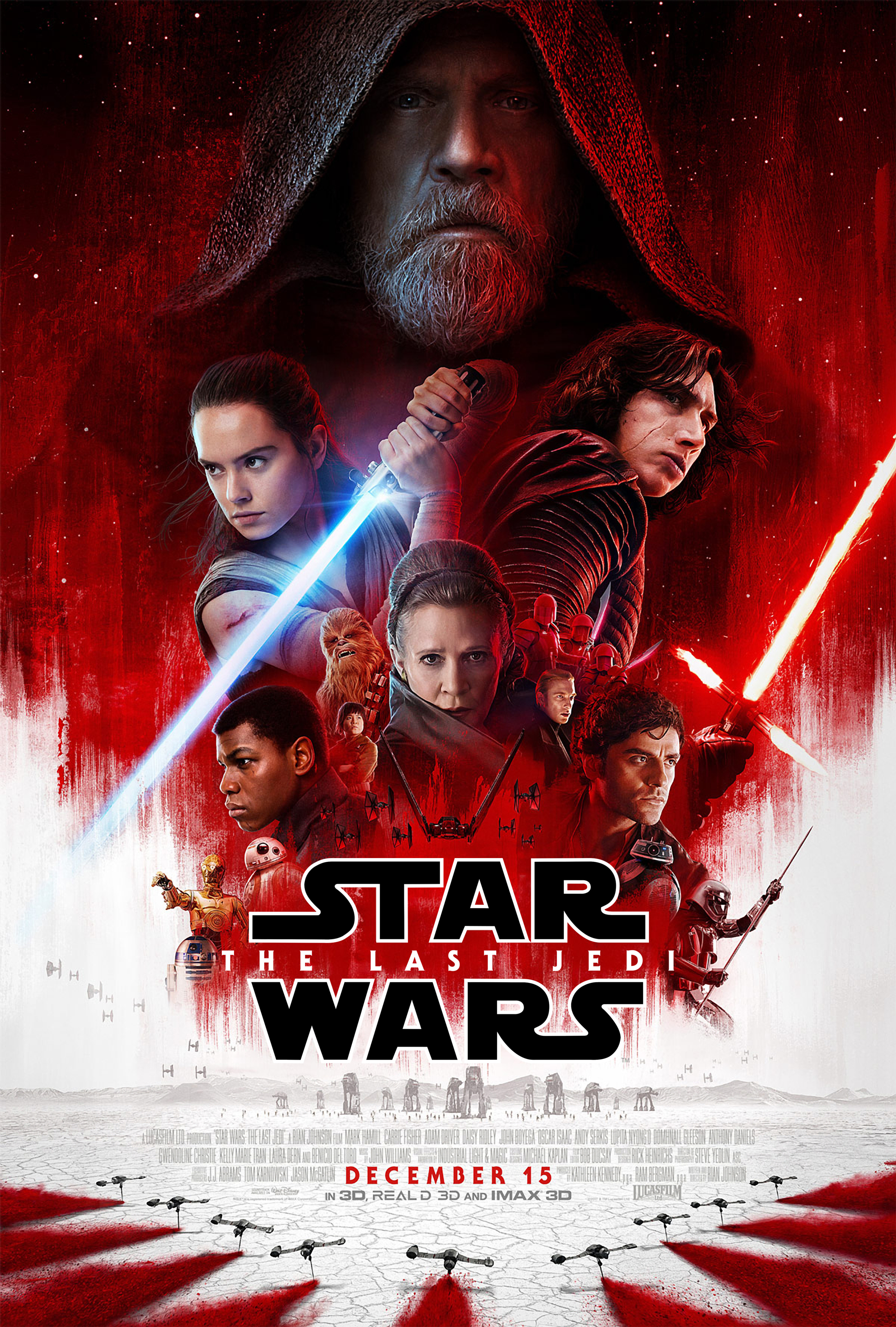 The Last Jedi Official Theatrical Poster Hi Res Large Hd Geek Carl