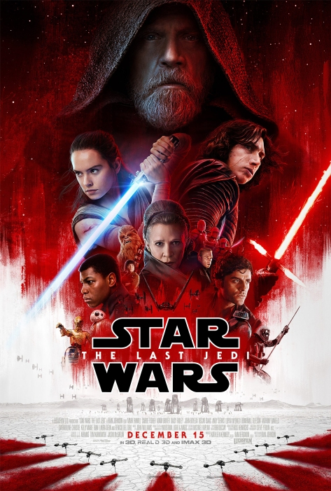 Star Wars The Last Jedi Official Theatrical Poster Large Hi-Res HD