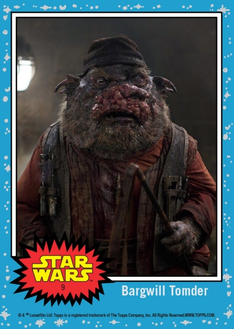 Bargwill Tomder, The Fathier Stable Keeper - TOPPS Countdown To Star Wars The Last Jedi - Card 9