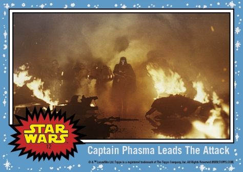 Countdown to Star Wars- The Last Jedi - Captain Phasma Leads the Attack - Topps Card 12