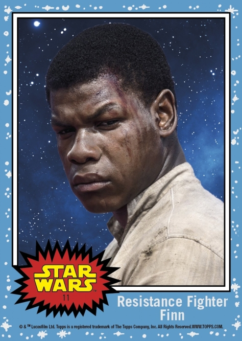 Countdown to Star Wars- The Last Jedi - Resistance Fighter Finn - Topps Card 11