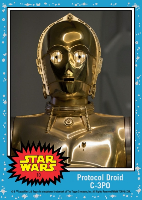 Countdown to The Last Jedi TOPPS Trading Card Day 10 - Protocol Droid C-3PO