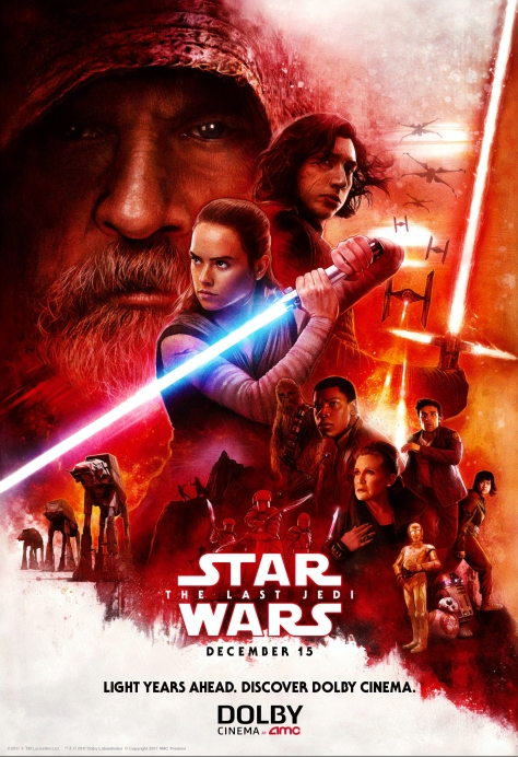 Star Wars The Last Jedi AMC Dolby Poster by Paul Shipper HD Hi-Res Large