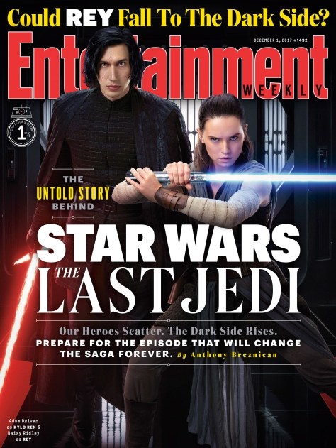 Star Wars The Last Jedi Entertainment Weekly Collectors Covers 1 - Rey and Kylo