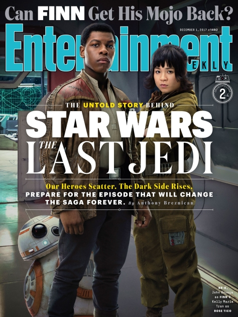 Star Wars The Last Jedi Entertainment Weekly Collectors Covers 2 - Finn and Rose