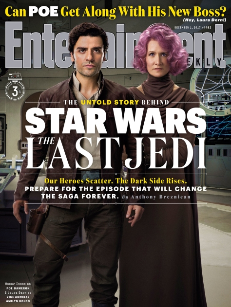 Star Wars The Last Jedi Entertainment Weekly Collectors Covers 3 - Poe and Holdo