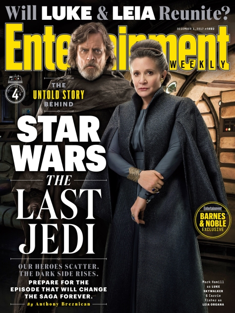 Star Wars The Last Jedi Entertainment Weekly Collectors Covers 4 - Luke and Leia