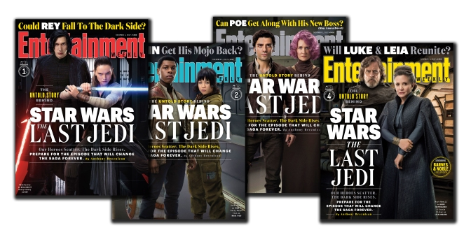 Star Wars The Last Jedi Entertainment Weekly Collectors Covers