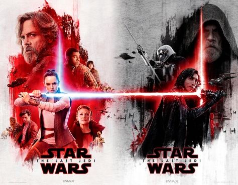 star wars the last jedi imax the light side and the dark side lobby poster