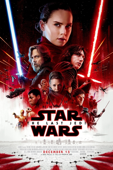 Star Wars The Last Jedi Japanese Movie Poster in English