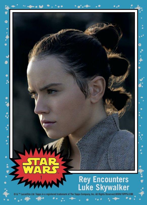 Topps The Last Jedi Trading Cards Day 1 - Rey Encounters Luke Skywalker