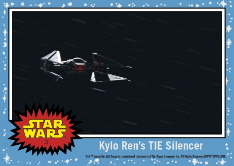 Topps The Last Jedi Trading Cards Day 3 - Kylo Ren's Tie Silencer Patron