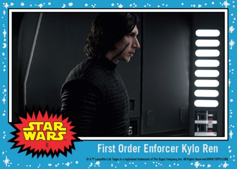 Topps The Last Jedi Trading Cards Day 6 - First Order Enforcer Kylo Ren