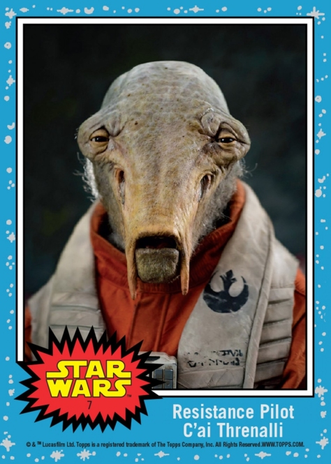 Topps The Last Jedi Trading Cards Day 7 - Resistance Pilot C'ai Threnalli