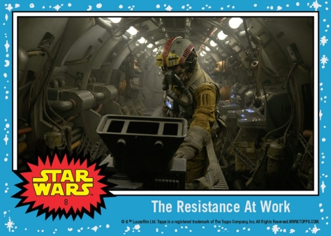 Countdown to The Last Jedi TOPPS Trading Card Day 8 - The Resistance at Work