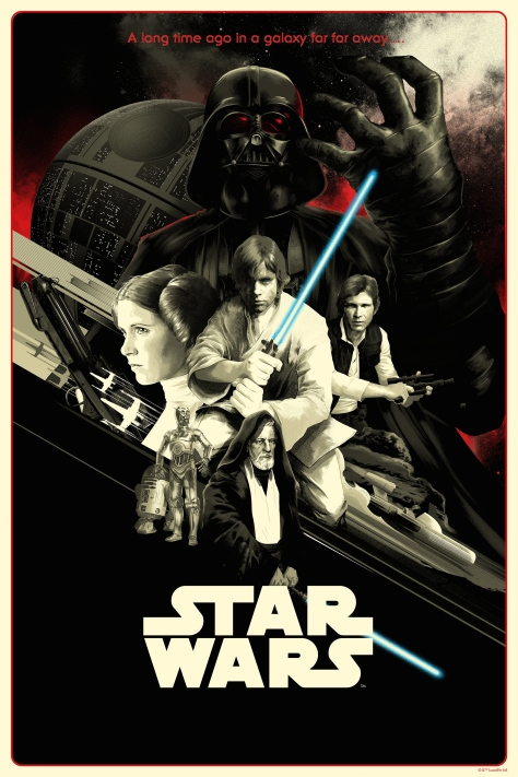 Matt Taylor Star Wars A New Hope Variant Poster Bottleneck Gallery Acme Archives