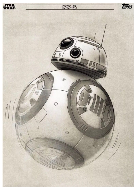 Star Wars The Last Jedi Graphite Topps Cards - BB8