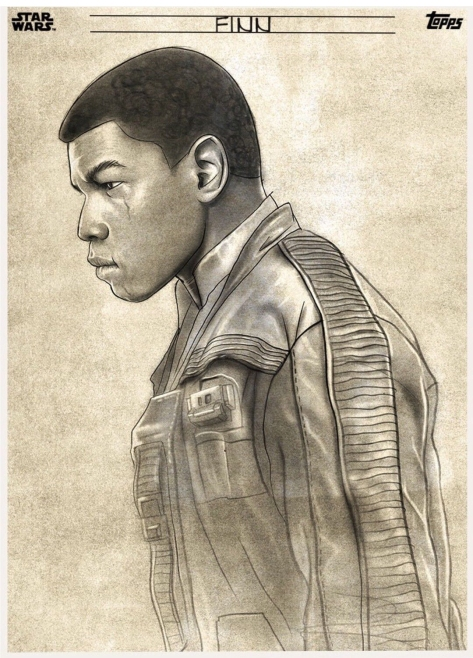 Star Wars The Last Jedi Graphite Topps Cards - Finn