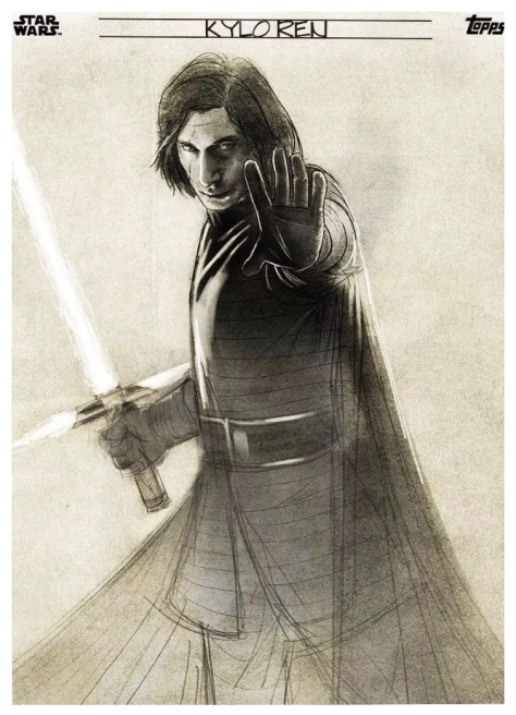 Star Wars The Last Jedi Graphite Topps Cards - Kylo Ren