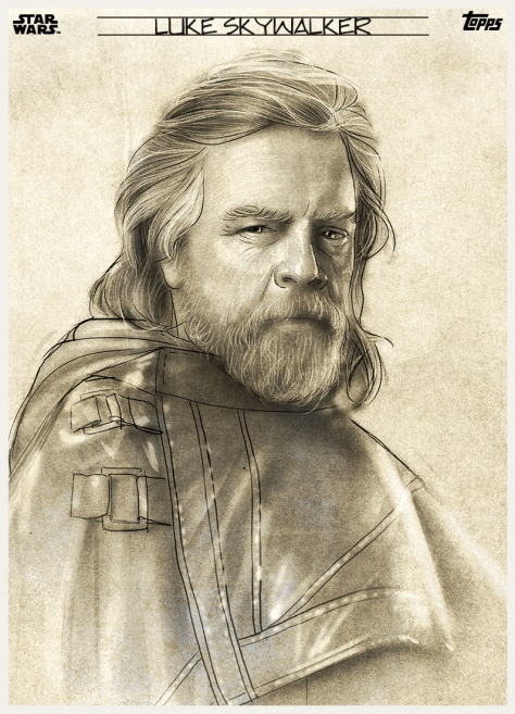 Star Wars The Last Jedi Graphite Topps Cards - Luke Skywalker