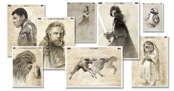 The Last Jedi Graphite Topps Cards