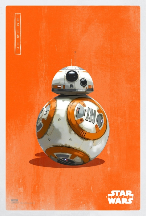 Star Wars The Last Jedi The Light Side Pop Icon Art Print Posters BB8