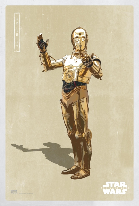 Star Wars The Last Jedi The Light Side Pop Icon Art Print Posters C3PO