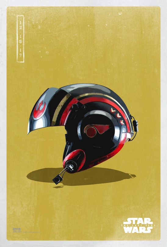 Star Wars The Last Jedi The Light Side Pop Icon Art Print Posters Poe Damerons Helmet