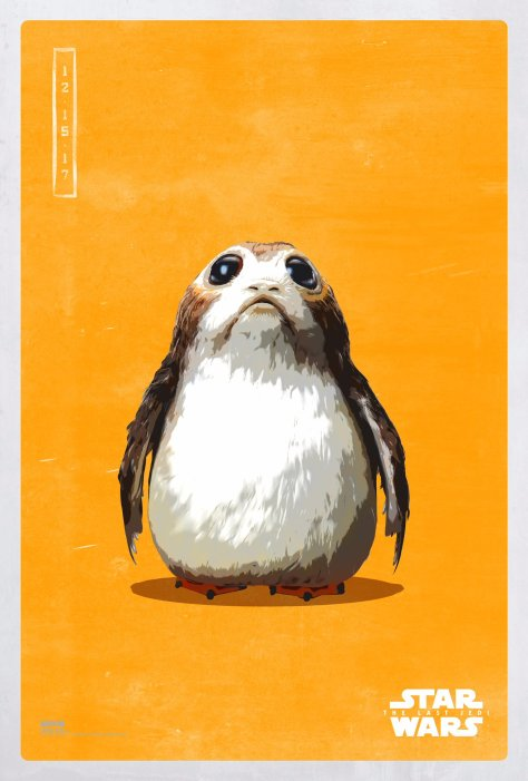 Star Wars The Last Jedi The Light Side Pop Icon Art Print Posters Porg